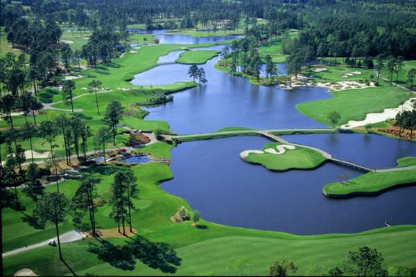 Aerial View Of The 12th Hole From Kings North At Myrtle Beach National Golf Club