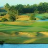 A view of the 18th hole at Fazio Course from Barefoot Resort & Golf