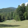 A view from a fairway at Rock at Jocassee