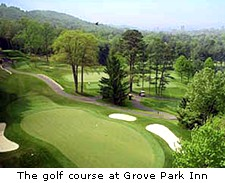 The golf course at Grove Park Inn
