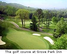 The golf course at Grove Park Inn