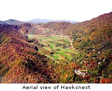Aerial view of Hawksnest