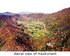 Aerial view of Hawksnest