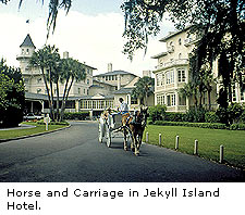 Horse and Carriage in Jekyll Island Hotel